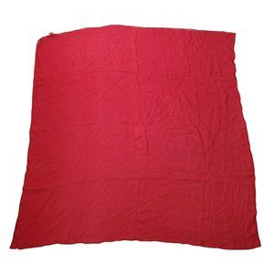 """Baar and Beards Square Scarf Red Silk Occupied Japan 29 x 29"""""""